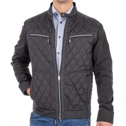 Czarna kurtka przejściowa Canson 343 133 black 01 pikowana