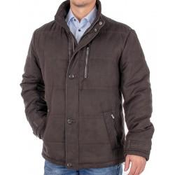Brązowa kurtka zimowa Canson 208 207 brown 05 ocieplana