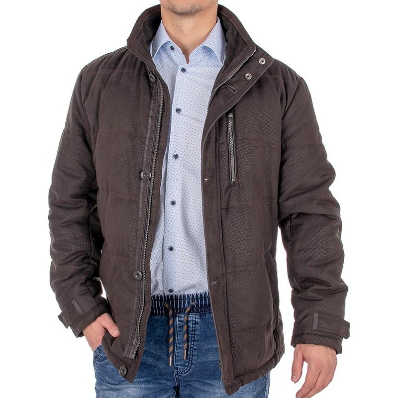 Brązowa kurtka zimowa Canson 208 207 brown 05