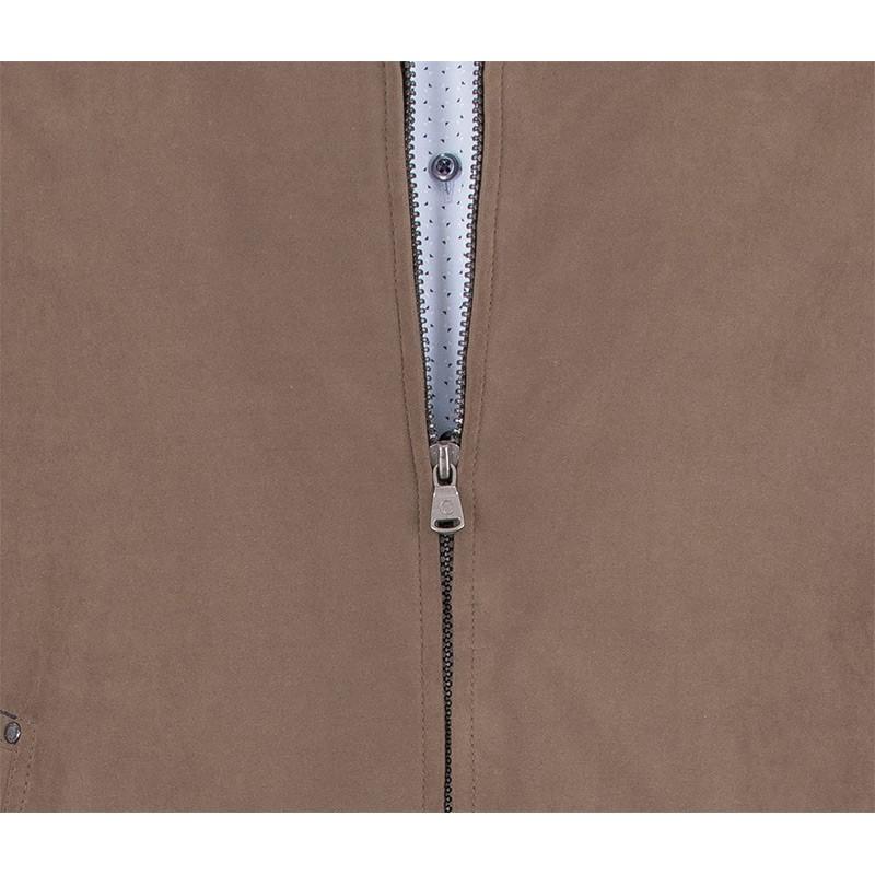 Jasnobrązowa kurtka zimowa Canson 21E*879-195 ze ściągaczami