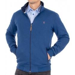 Niebiesko-jeansowa bluza na zamek Lidos Bastion 3/21/4 bawełniana
