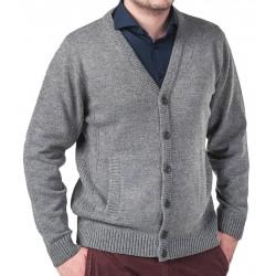 Rozpinany sweter Lasota Roman kardigan popielaty