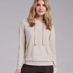 sweter z kapturem Feria FI46-5-23 jasno beżowy rozmiar 38 40 42 44