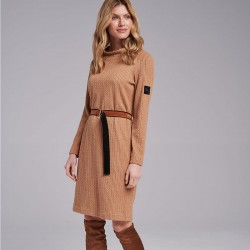 sukienka z paskiem Feria FI203-5-23 camel rozmiar 38 40 42 44 46