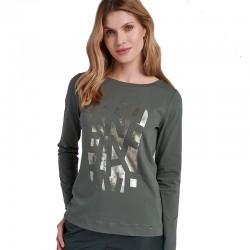 bluzka z długim rękawem Feria Fi33-5-36 khaki rozmiar 40 42 44 46