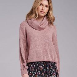 sweter damski Feria FI47-5-11 golf melanż wrzos rozmiar 40 42 44