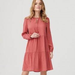 sukienka boho Sunwear ES201-5-33 ceglasta rozmiar 44 46