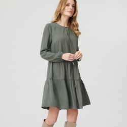 sukienka Sunwear ES201-5-36 gładka zielony rozmiar 38 40 44 46