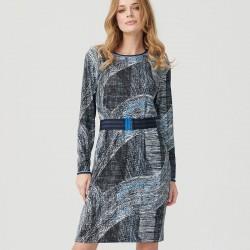 sukienka długi rękaw Sunwear ES203-5-02 granatowa rozm. 40 42 44 46 48