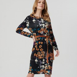 sukienka Sunwear ES208-5-24 z paskiem czarna rozmiar 44 46 48