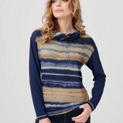 sweter w paski Sunwear E03-5-56 granatowy rozmiar 38 40 42 44 46 48