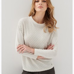 bluzka Sunwear E16-5-23 jasno beżowa rozmiar 38 40 42 44 46 48