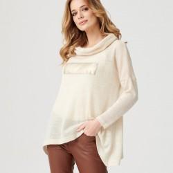 sweter damski Sunwear E25-5-23 jasno beżowy rozmiar 38 40 42