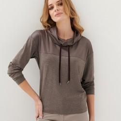 bluzka damska Sunwear E27-5-01 taupe rozmiar 38 40 44 46