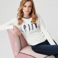 bluzka z długim rękawem Sunwear E29-5-08 ekri rozmiar 42 44 46 48