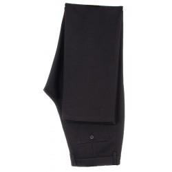 Czarne niezwężane spodnie Lord wizytowe wełniane bezkantowe 82-112 cm