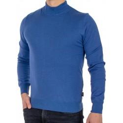 Niebieski półgolf Jordi J-791 bawełniany - kolor chaber picaso