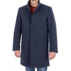 Granatowy wełniany płaszcz męski Racmen 2722