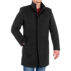 Czarny wełniany płaszcz męski Racmen model 2722