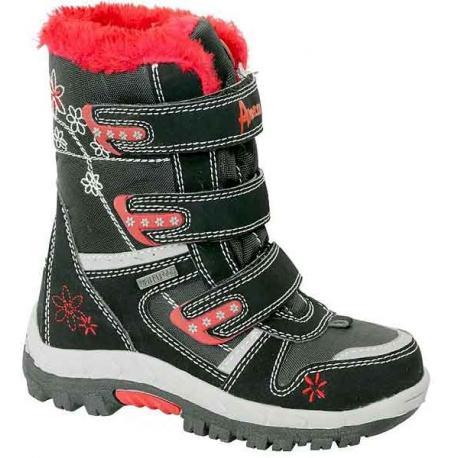 śniegowce American Club HLA 31812 czarne z czerwonym