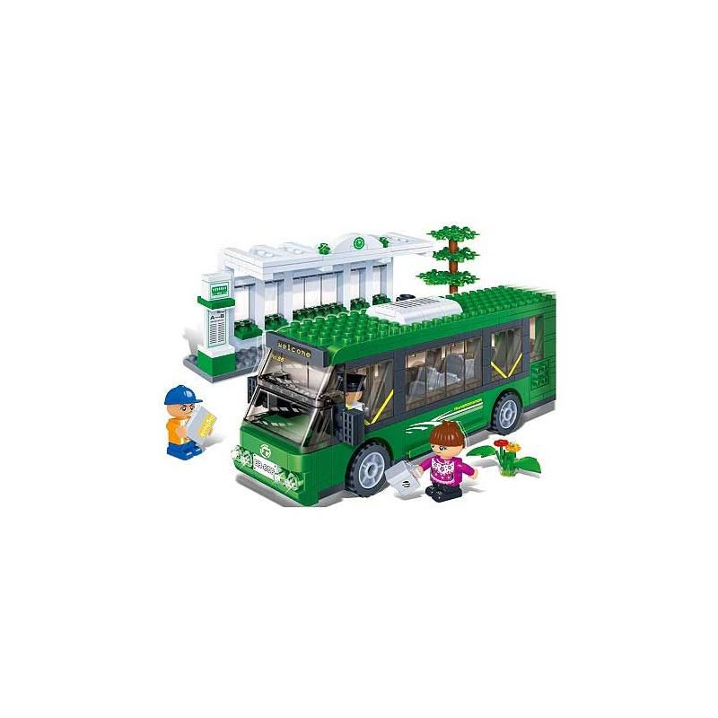 Klocki BanBao 8768 Przystanek autobusowy Transport