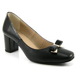 czółenka skóra Ulmani Shoes 7583 czarne rozmiary 36 37 38 39 40