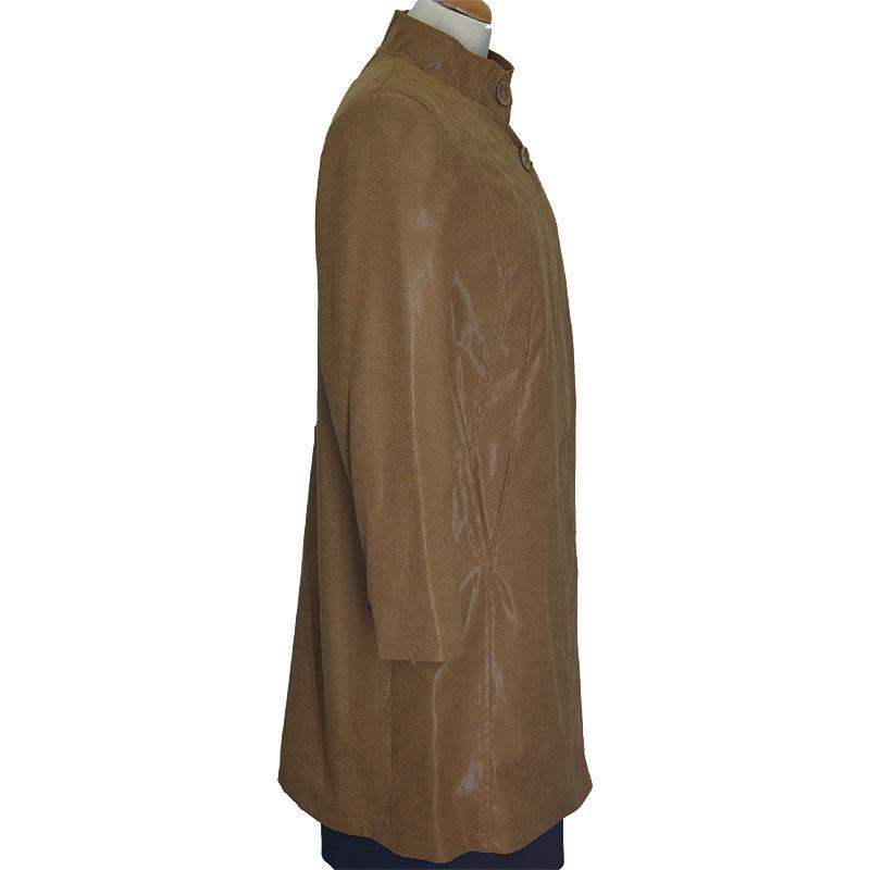 płaszcz damski Biba-Styl Róża jasno brązowy