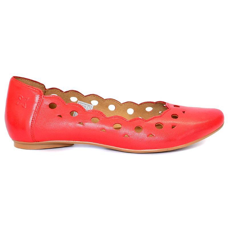 baleriny skóra Maciejka 01299-27 czerwone