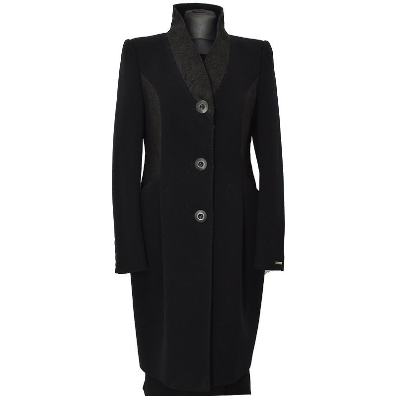 płaszcz Dziekański Larysa czarny z przodu