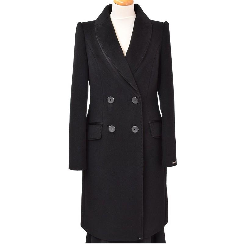 płaszcz Dziekański Izolda czarny z przodu