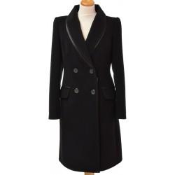 płaszcz zimowy Izolda 093 Dziekański brązowy rozmiar 38 40 42 44 46