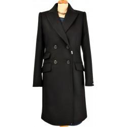 płaszcz Dziekański Emilia 092 czarny rozmiar 38 40 42 44 46 48 50