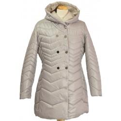 kurtka zimowa z kapturem Biba Izabela beż rozmiar 38 40 42 44 46 48