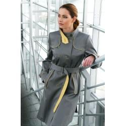 płaszcz damski Dziekański Ida szary z żółtym rozmiar od 36 do 48