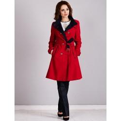 płaszcz Dziekański Ida 061 czerwony rozmiar 38 40 42 44 46 48