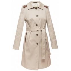 płaszcz damski Dziekański Leonia 062 beż rozmiar 40 42 44 46 48 50