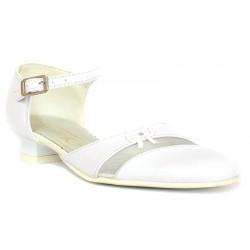 czółenka pantofle komunijne KMK 41 białe rozmiar 31