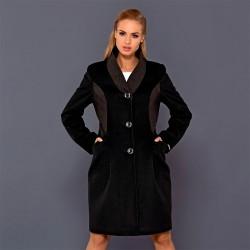 płaszcz damski Dziekański Larysa czarny rozmiar 40 42 44 46