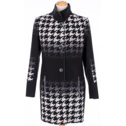 płaszcz damski Biba Donata czarno biały rozmiar 40 42 44