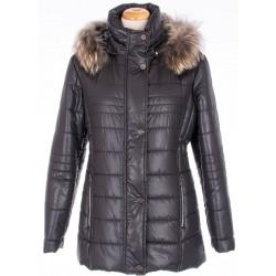 kurtka zimowa ocieplana Biba Ludwika czarna rozmiar 48