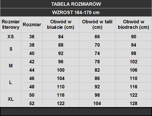 tabela rozmiarów Caro