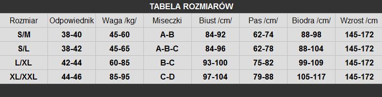 tabela rozmiarów LivCo
